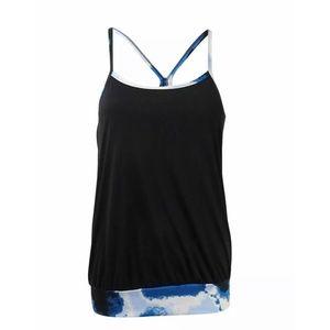 Nike Womens Cascade Sport Black Tankini Top Size M